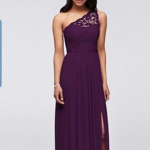 Davids bridal plum bridesmaid dresses
